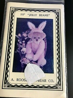 "A.Roosevelt Bear Co.  - vintage teddy bear sewing pattern - 10"" Jelly Beans"