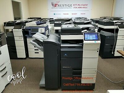 Konica Minolta Bizhub C654e Copier Printer Scanner with Stapling Finisher