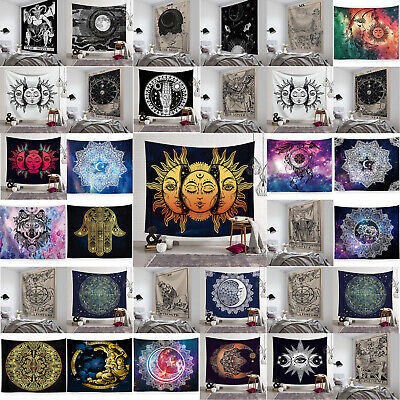 Sun and Moon Bohemian Tapestry Gypsy Hippie Wall Hanging Bedspread Throw Cover