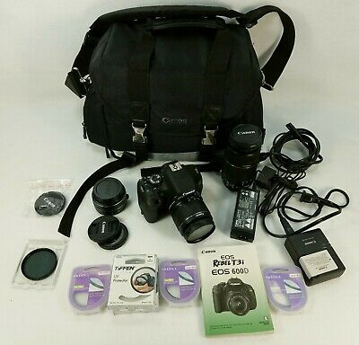 Canon EOS Rebel T3i 18MP Digital SLR Camera - with Lens Bundle & Lots of Extras