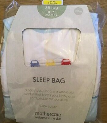 Mothercare On The Road 0-6 Months 2.5 Tog Snoozie Sleep / Sleeping Bag