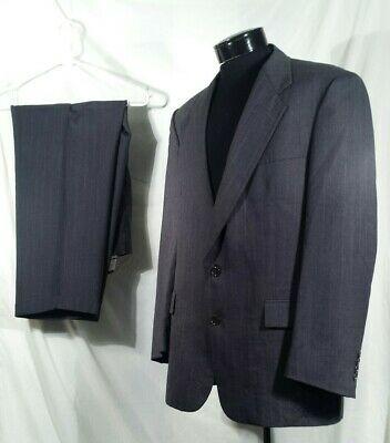Christian Dior Monsieur Suit 2 Piece Blazer And Pants Grey Striped Wool Size 42