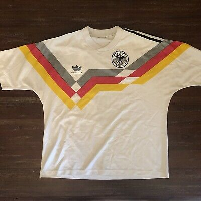 West Germany World Cup 1990 Home Football Shirt Adidas 90s Original RARE