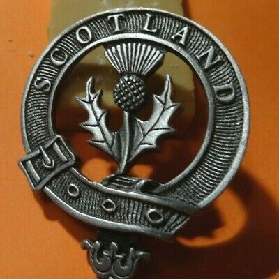 Scotland broach in pewter