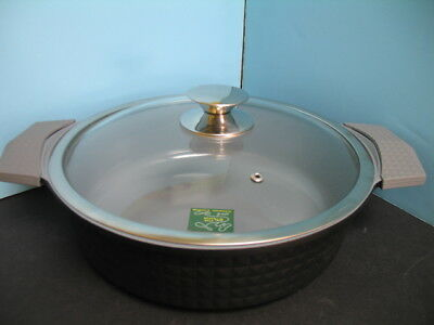Low pot Ceramic nonstick Coated 10 QT cookware frying cooking diamond pattern 11