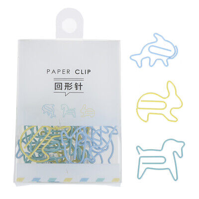 Creative metal clips cartoon shape paper clips multifunctional bookm IO J GT