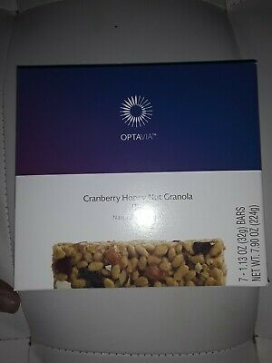 💙 Medifast Optavia Cranberry Honey Nut Granola Bar-7 Bars