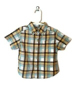 The Children's Place boy 18 months long sleeved dress shirt top plaid