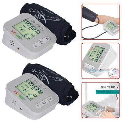 Rechargable Automatic Upper Arm Blood Pressure Monitor BP Cuff Machine Tester US