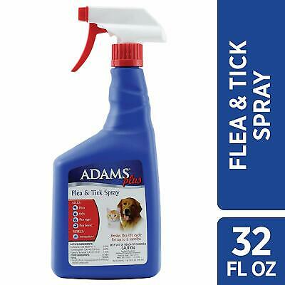 Adams Plus Flea and Tick Spray for Cats and Dogs, Quick Relief From Biting Fleas