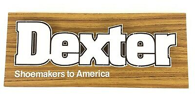 Vintage Dexter Shoes Wooden & Plastic Shoemakers to America Sign RARE