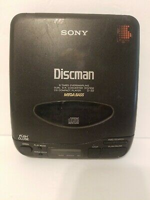 Sony Discman D-33 CD Compact Portable Player Mega Bass- Works!  READ DESCRIPTION