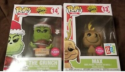 Funko Pop The Grinch FLOCKED Grinch FLOCKED Max Exclusives