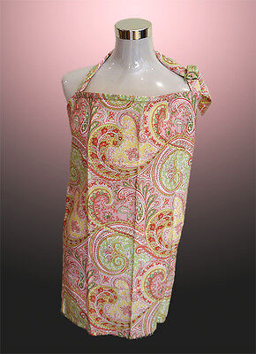 Brand New Breastfeeding Nursing Cover with Matching Bag. (Pink Frond)