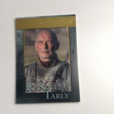 Game Of Thrones Season 7 Randall Tarly Gold Parallel Card 028/150 - New