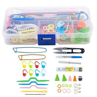 1 Set New Craft Stitch Sewing Hook Weaver Case Box Crochet Needle Knitting Tools