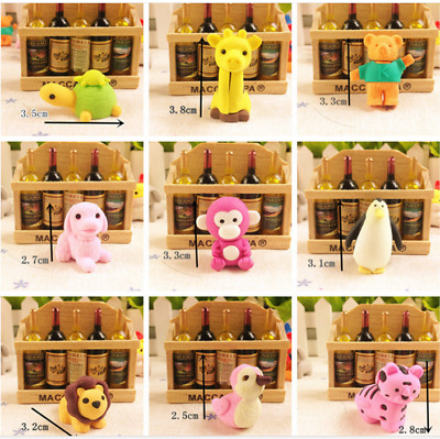 30 PCs Joanna Reid Collectible Set of Adorable Japanese Puzzle Animal Erasers
