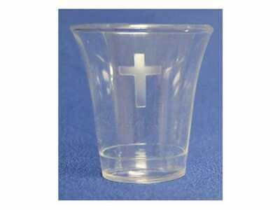 Communion-Cup-Disposable w/Cross-1-3/8  (Pack of 1000)