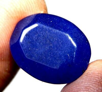 Dyed Faceted Blue sapphire Gemstone S40
