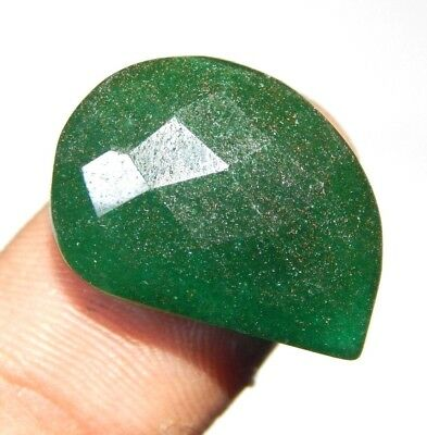 Faceted Dyed Beryl Emerald Marvelous Loose Gemstone 19 ct 19x14 F25