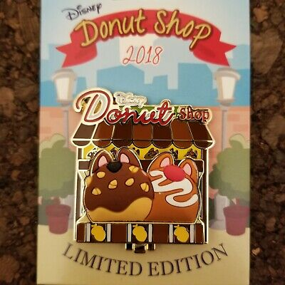 Disney Parks Donut Shop 2018 POTM Limited Edition LE Pin Chip and Dale