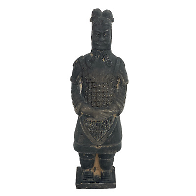 Vintage 6.25 inch Chinese Terracotta Statue Antique Warrior Soldier Figurine