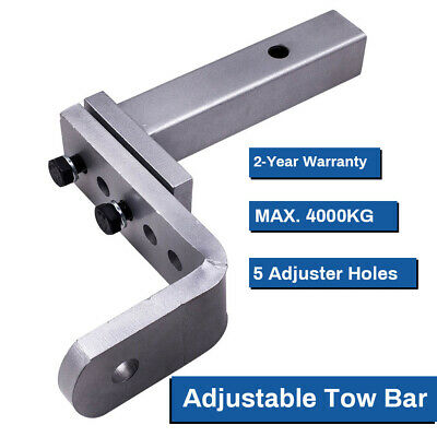 Adjustable Towbar Tow Bar Ball Mount Tongue Hitch Trailer 4WD Max. 4000KG QXAS