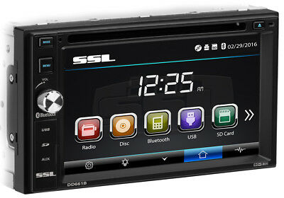 SOUNDSTORM Double DIN Bluetooth Car Stereo DVD CD Player 6.2 Touchscreen Monitor