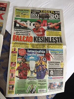 2019 European Super Cup Final Liverpool v Chelsea - day of match paper Fotomac