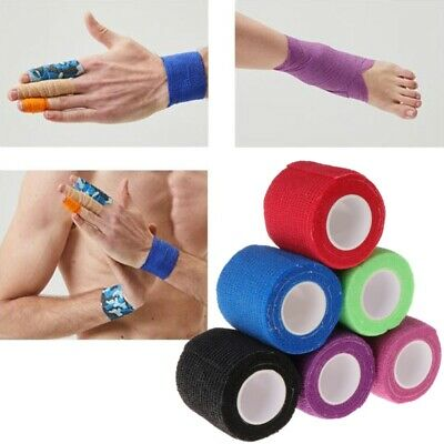 6pcs Self-adhesive Disposable Elastic Bandage for Handle Grip Tube Tattoo New