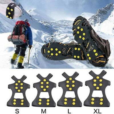 Non-slip Snow Cleats Shoes Boots Cover Step Ice Spikes Grips Crampons For Hike w
