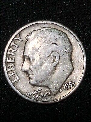 1951-D Roosevelt  DIME XF Free shipping make a reasonable offer