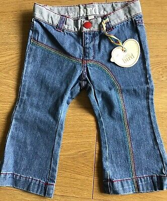 Little Bird By Jools Oliver Girls Flared Denim Jeans Age 9-12 Months 🍄 BNWT 🍄