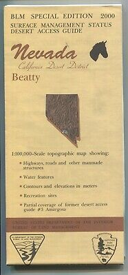 USGS BLM edition topo map California Desert BEATTY Nevada 2000 ☢ test site ☢ 100