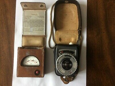 Two Vintage Photographic Light Meters