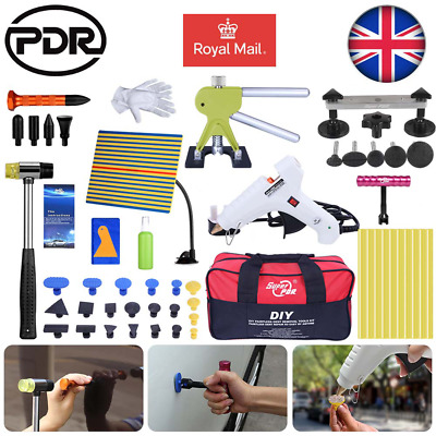 UK Auto Car Body Paintless Hail Removal Dent Lifter Glue Puller 52xPDR Tools Kit