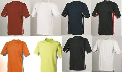 Mens Gents Tombo Teamwear Performance Wicking Sports T-Shirt Top 8 colours TL63