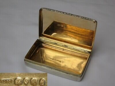 Wonderful English Sterling Silver William IV Snuff Box 1831 Edwards of London.