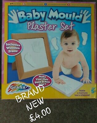 Baby Mould Plaster Set. Brand New