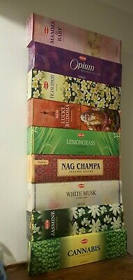 Tall Hem Incense Sticks ~ You Choose A Scent ~ Long Burn Time ~ 6 Hex In 1 Pack