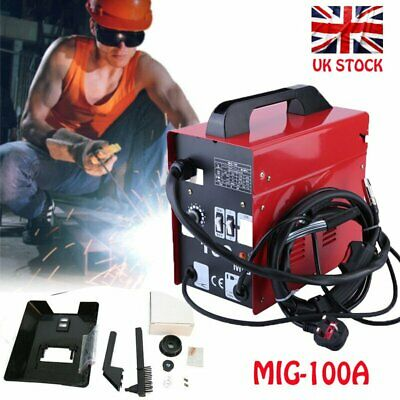 Professional Gasless MIG Welder 100amp No Gas Welding Machine with Complete Kit