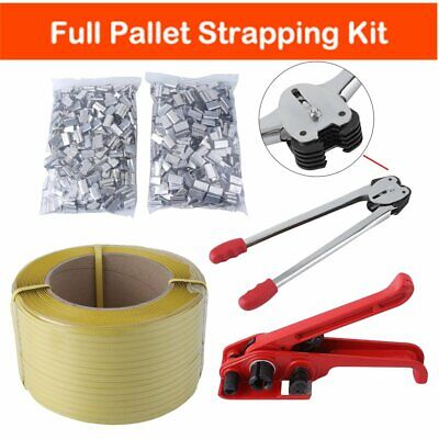 Pallet Strapping Banding Kit Include 1500m Coil Sealer Tensioner Metal Seal 12mm