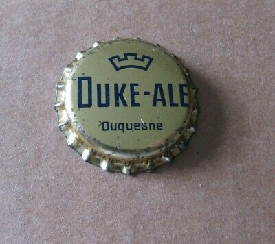 Unused Duke Ale Beer Cap Duquesne Brewing Co Pittsburgh Pennsylvania Pa