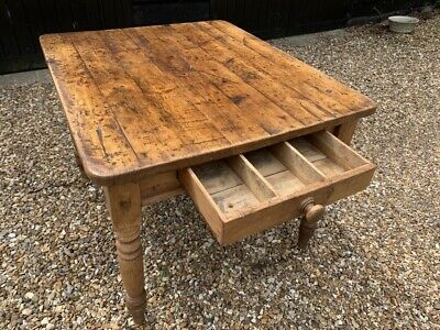 Antique farmhouse/shabby chic kitchen table with drawer