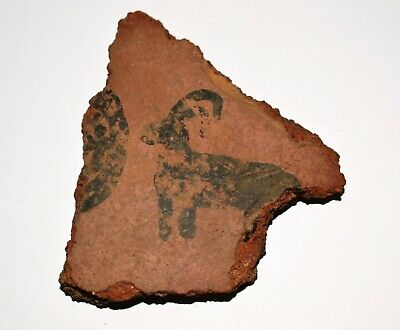 Piece of Bronze Age Pottery with the Black Goat Drawing,circa 10 c.BC