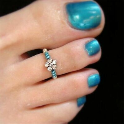 Women Barefoot Foot Rhinestone Girl Finger Toe Ring Beach Celebrity Jewelry
