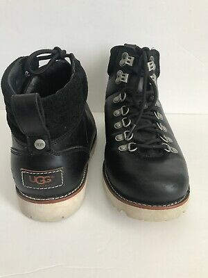 93ee9f3552a UGG AUSTRALIA CAPULIN Alpine Boots 3238 Brown Leather Lined Men's ...