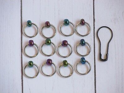 Snag Free O ring stitch markers, knitting, Dragon Scales (iridescent)