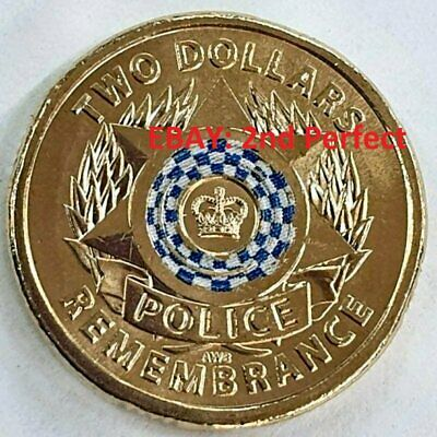📈 2019 National Police Remembrance Day $2 Uncirculated Coin