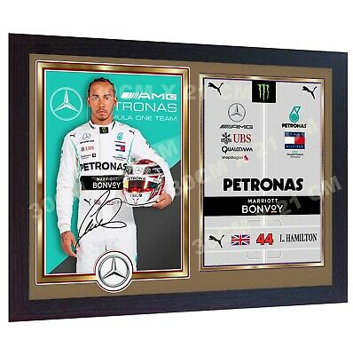 NEW F1 WORLD CHAMPION Lewis Hamilton signed autographed print photo Framed .